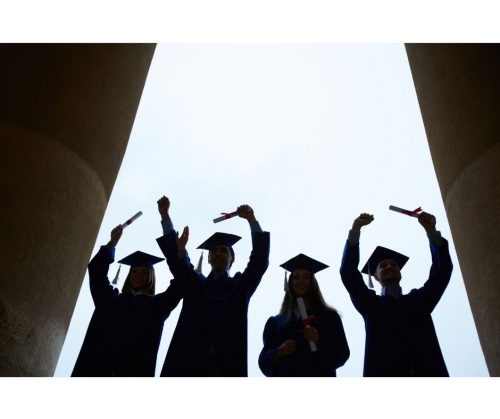 Deaf University Students Celebrating